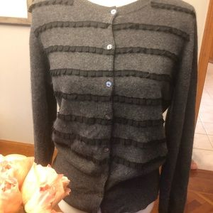 Women's gray Fenn Wright cashmere cardigan L